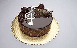 Фотографии Сладкая еда Торты Шоколад Цветной фон Еда