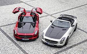 Картинки Mercedes-Benz Родстер 2013 SLS 63 AMG GT roadster Автомобили