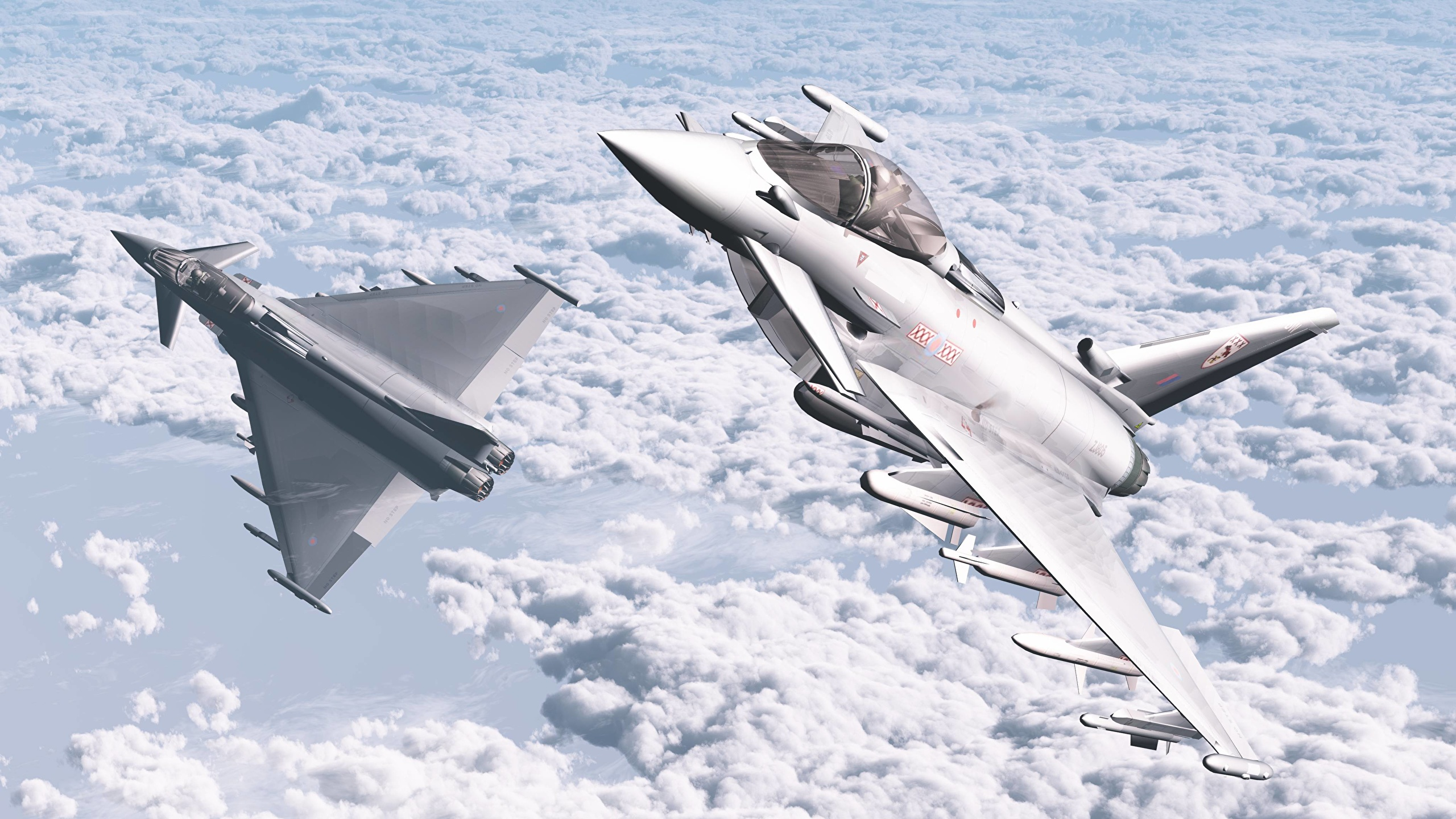 Обои самолеты, Eurofighter typhoon. Авиация foto 7