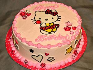 Картинки Сладости Торты Hello Kitty
