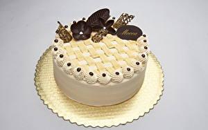 Фотографии Сладости Торты Шоколад Цветной фон Еда