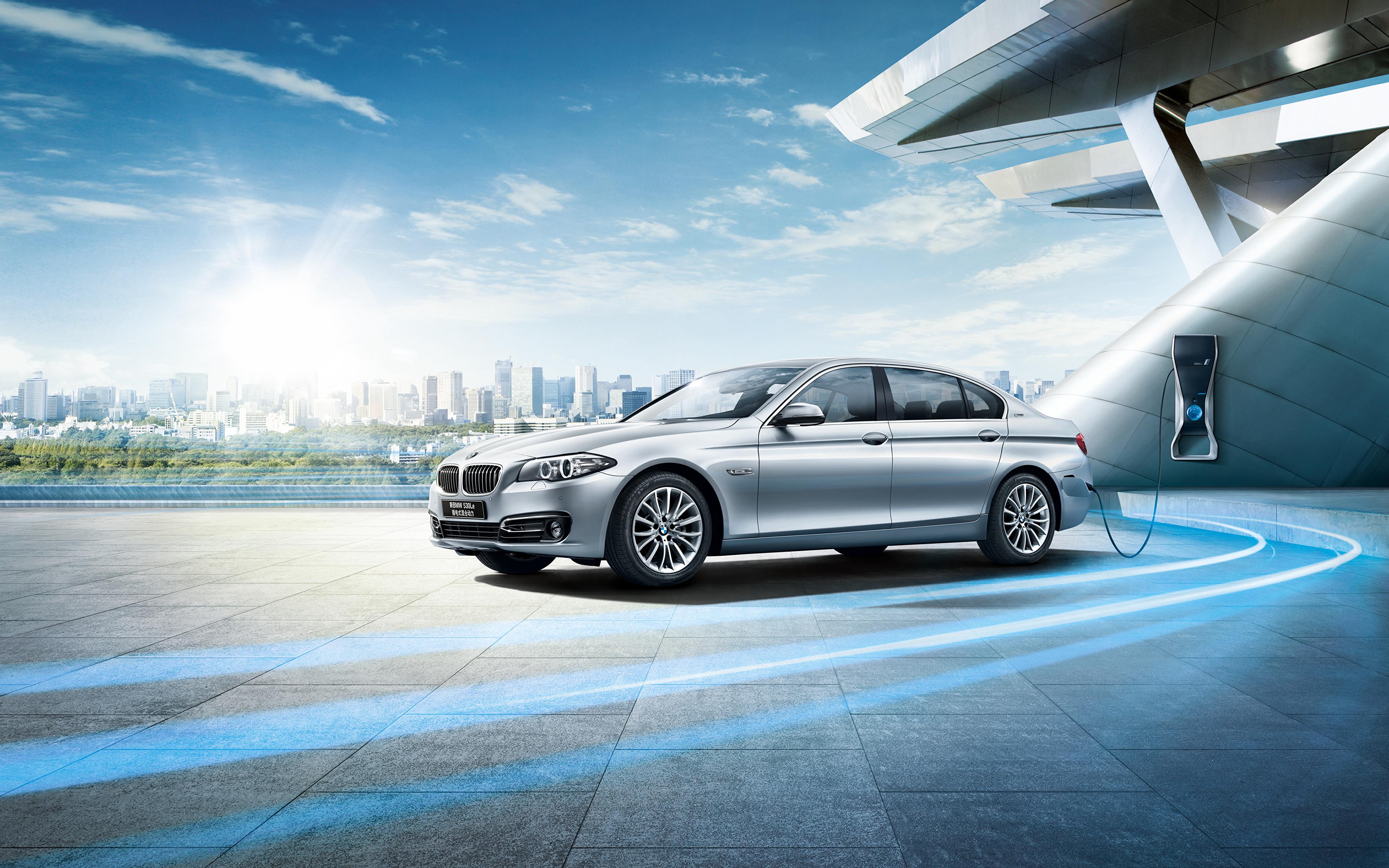 Картинки BMW F18 Седан Автомобили 3840x2400 БМВ авто машины машина автомобиль