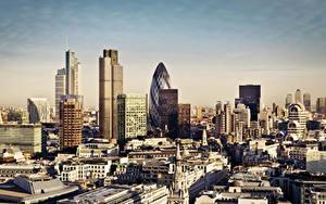 Фотография Великобритания Здания Лондоне Мегаполис