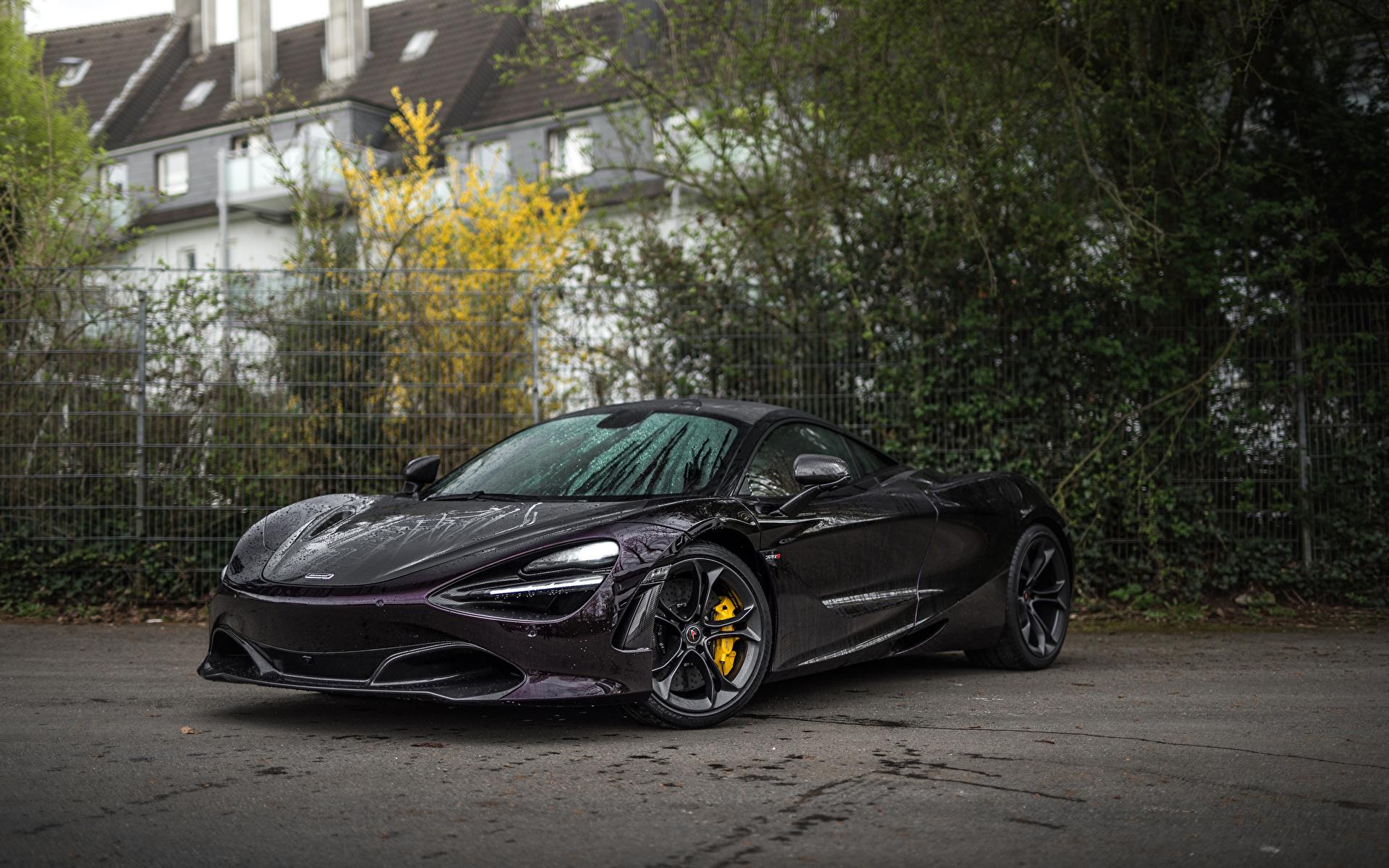 Фотография 2018-20 Manhart McLaren 720S Черный машина Металлик 1920x1200 Макларен черная черные черных авто машины Автомобили автомобиль