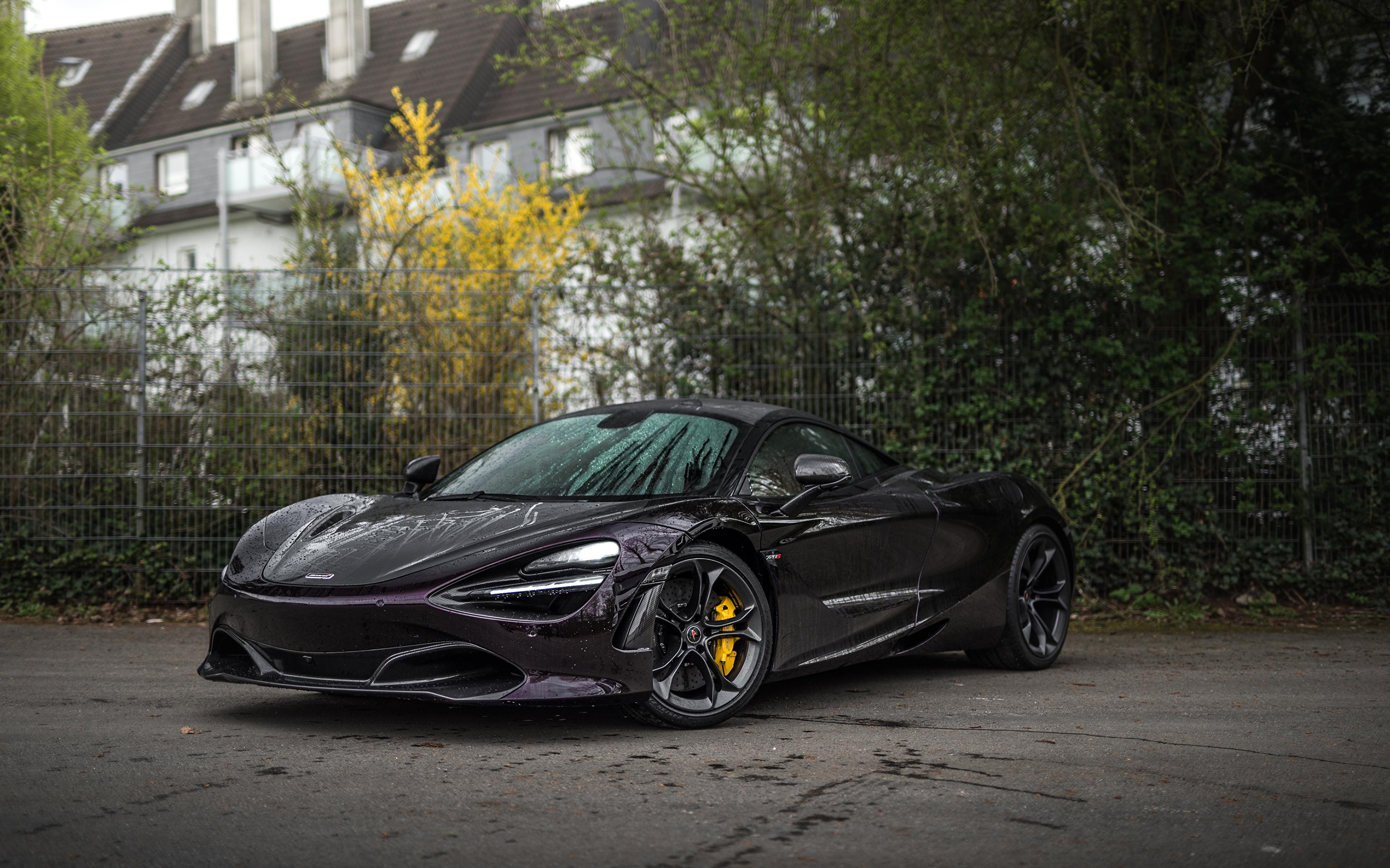 Фотография 2018-20 Manhart McLaren 720S Черный машина Металлик 3840x2400 Макларен черная черные черных авто машины Автомобили автомобиль