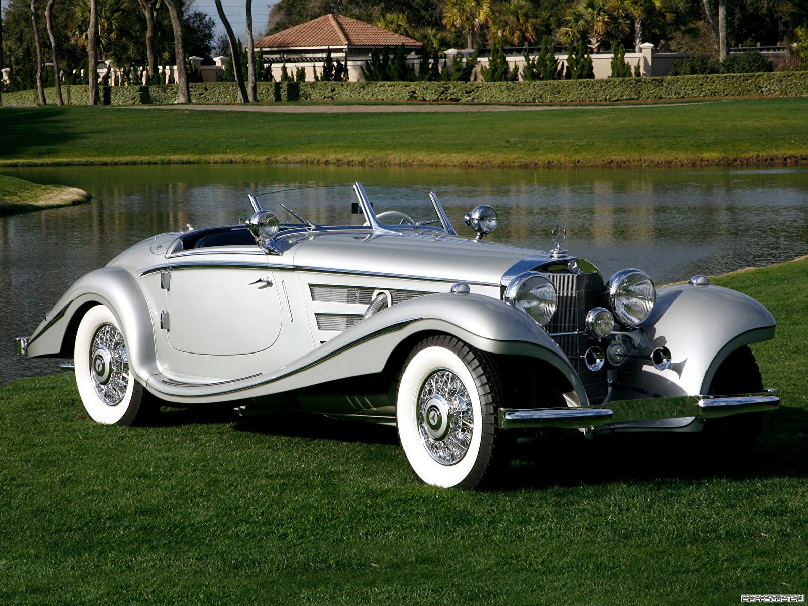 Картинка Мерседес бенц 500K Special Roadster 1936–37 Родстер авто 1600x1200 Mercedes-Benz машина машины автомобиль Автомобили