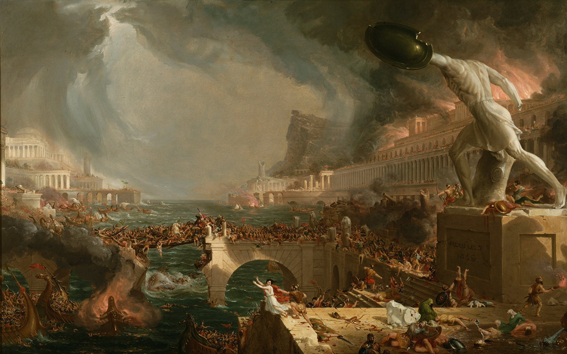 the militarys role in the rise and fall of the roman empire