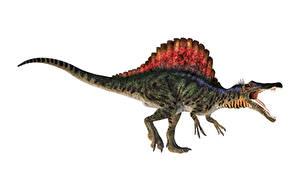 Фото Древние животные Динозавр Spinosaurus животное 3D_Графика