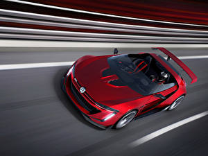 Фото Фольксваген Красный Кабриолет Родстер 2014 GTI roadster Авто