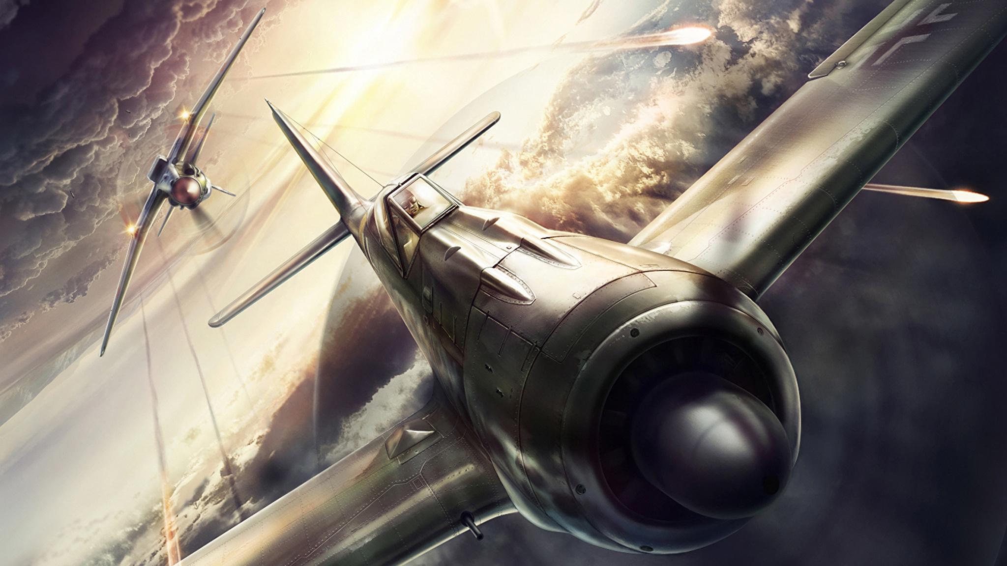 Самолет в бою на телефон