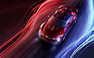 Обои Volkswagen Красный Металлик Сверху Родстер 2014 GTI roadster