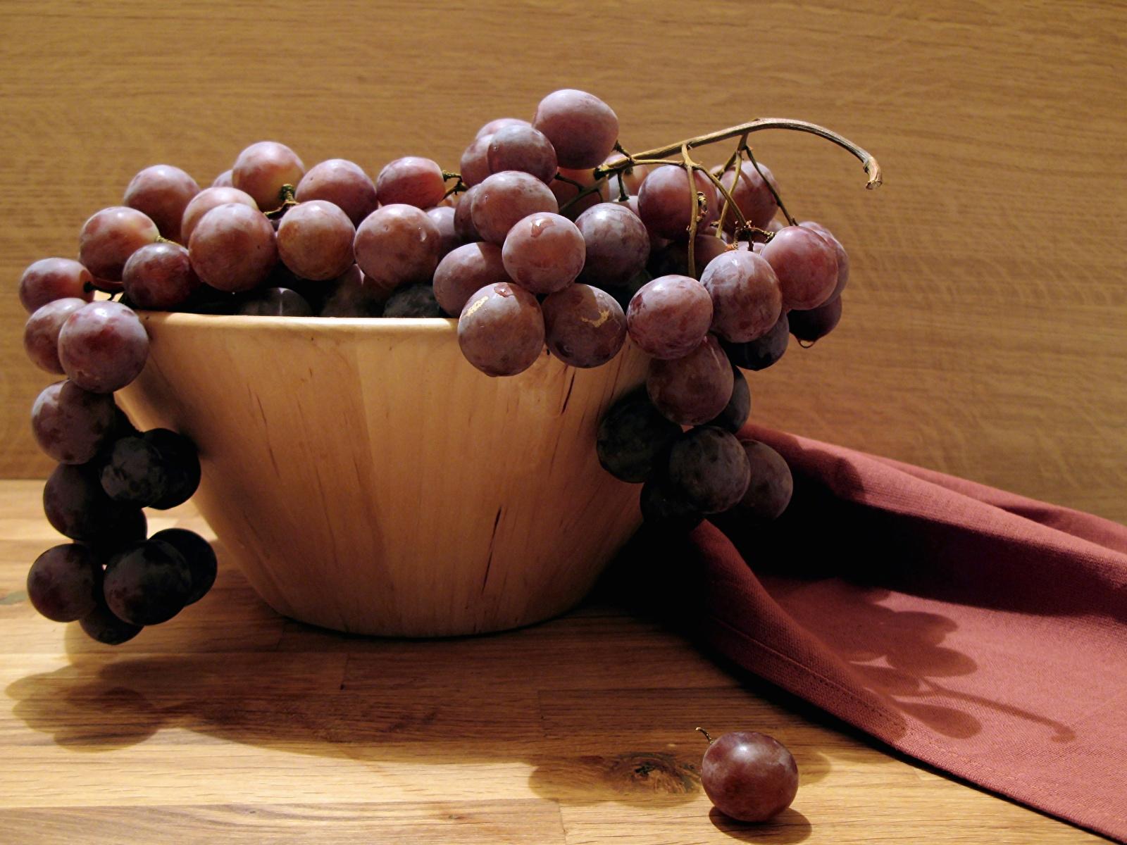 Фотографии Виноград Еда 1600x1200 Пища Продукты питания