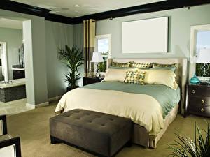 Фото Интерьер Дизайна Спальня Кровать Подушки