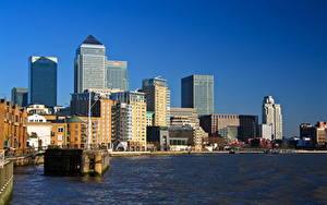 Обои Великобритания Дома Река Лондоне город