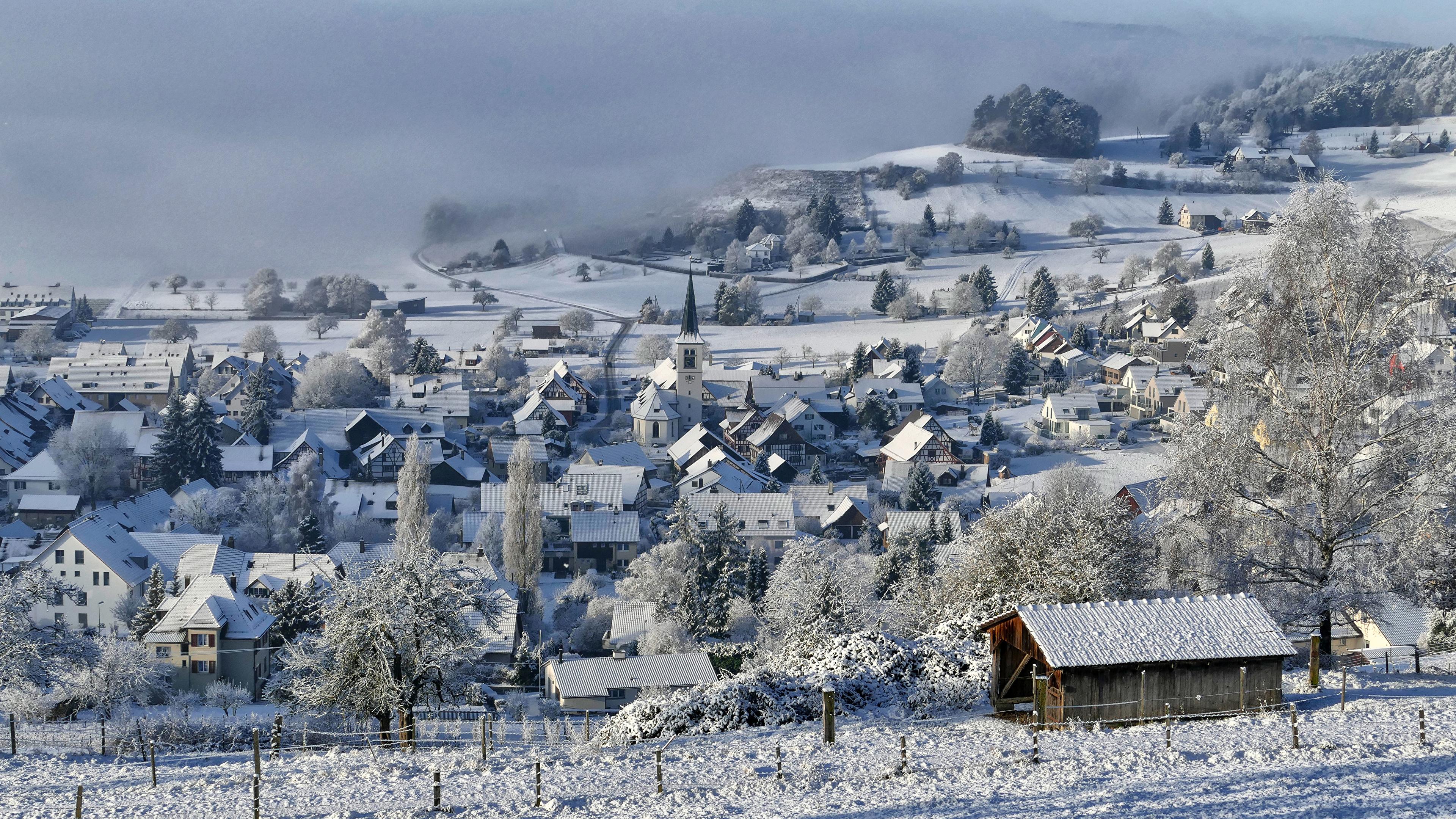 Обои швейцария, Switzerland, здания, крыши, Цюрих, дома. Города foto 12
