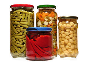 Фото Овощи Банка Пища