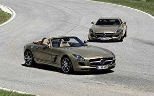 Фотографии Mercedes-Benz Металлик Кабриолет Родстер 2011 SLS AMG roadster Авто