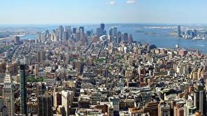 Фотографии США Небоскребы Нью-Йорк Мегаполис город