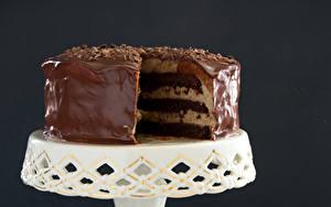 Картинки Сладкая еда Торты Шоколад Цветной фон Еда