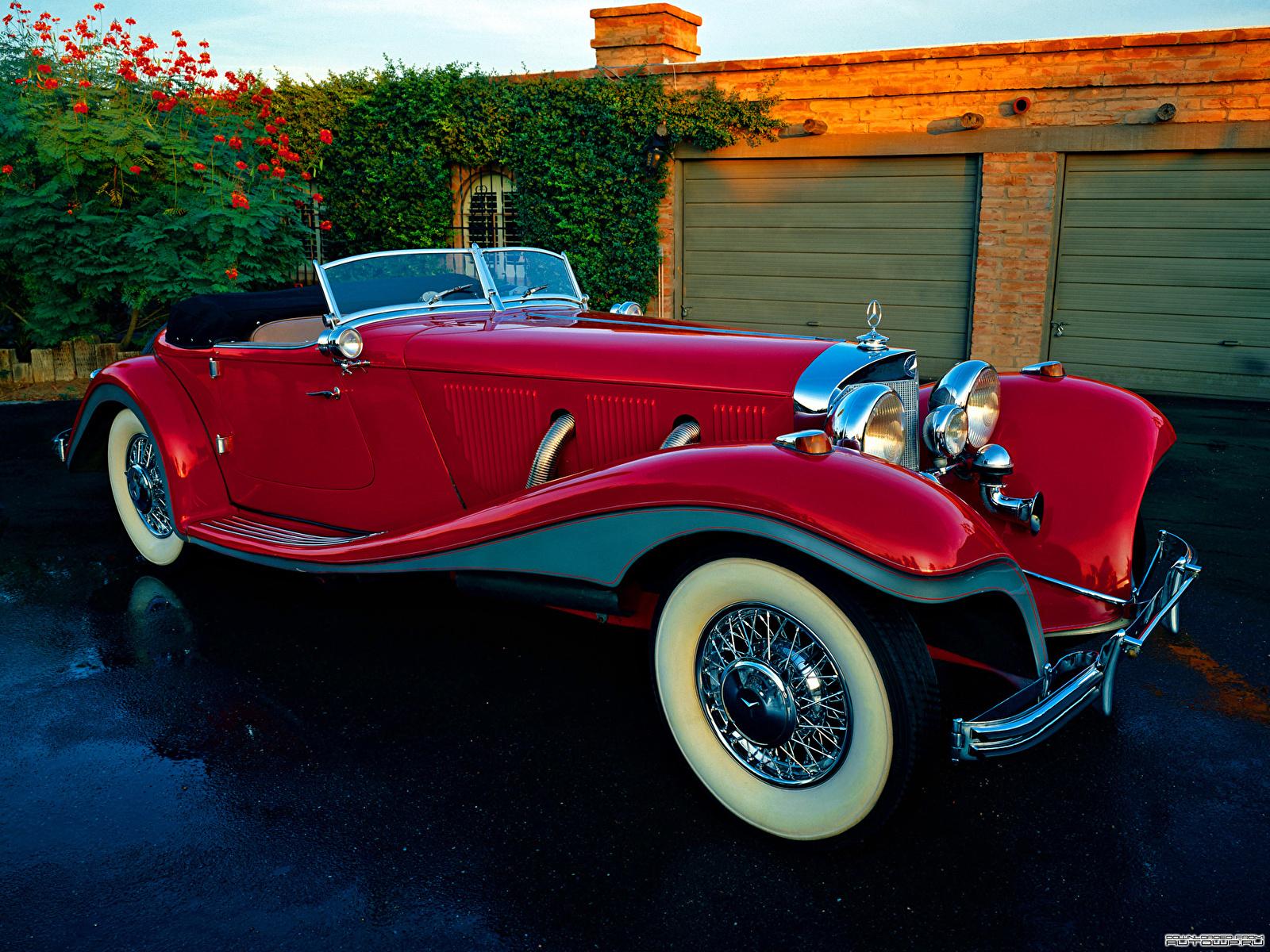 Фото Mercedes-Benz 500K Special Roadster 1936 Родстер авто 1600x1200 Мерседес бенц машина машины автомобиль Автомобили