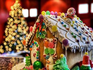 Фотография Праздники Рождество Выпечка Сладости Конфеты Торты