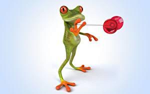 Картинки Лягушки 3D Графика Животные Юмор