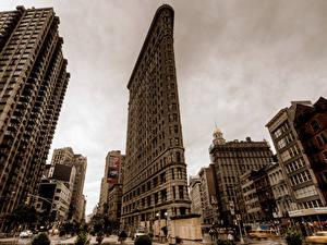 Фотография США Небоскребы Нью-Йорк Улице Города