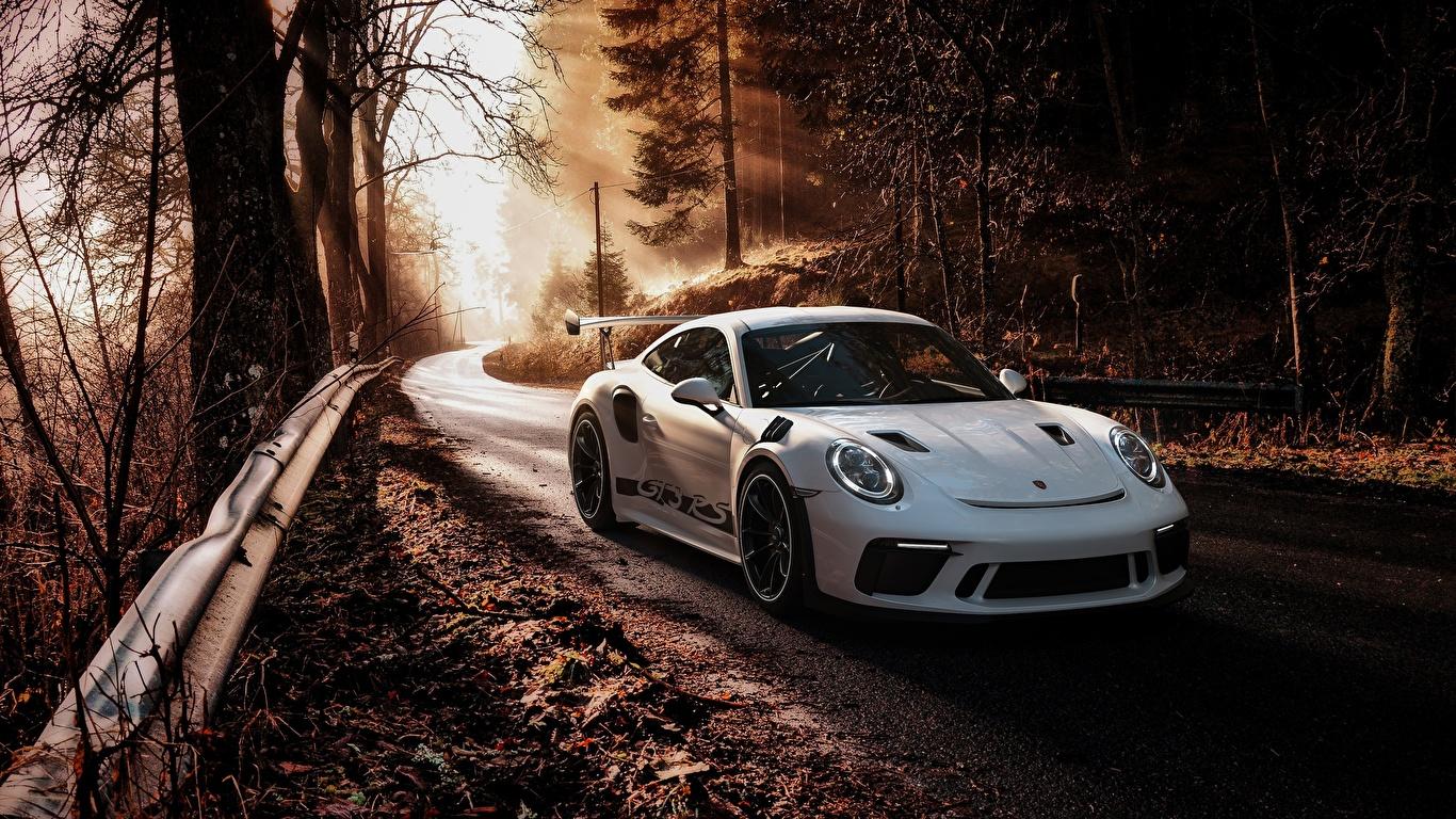 Обои porsche, 911, rs, White. Автомобили foto 10