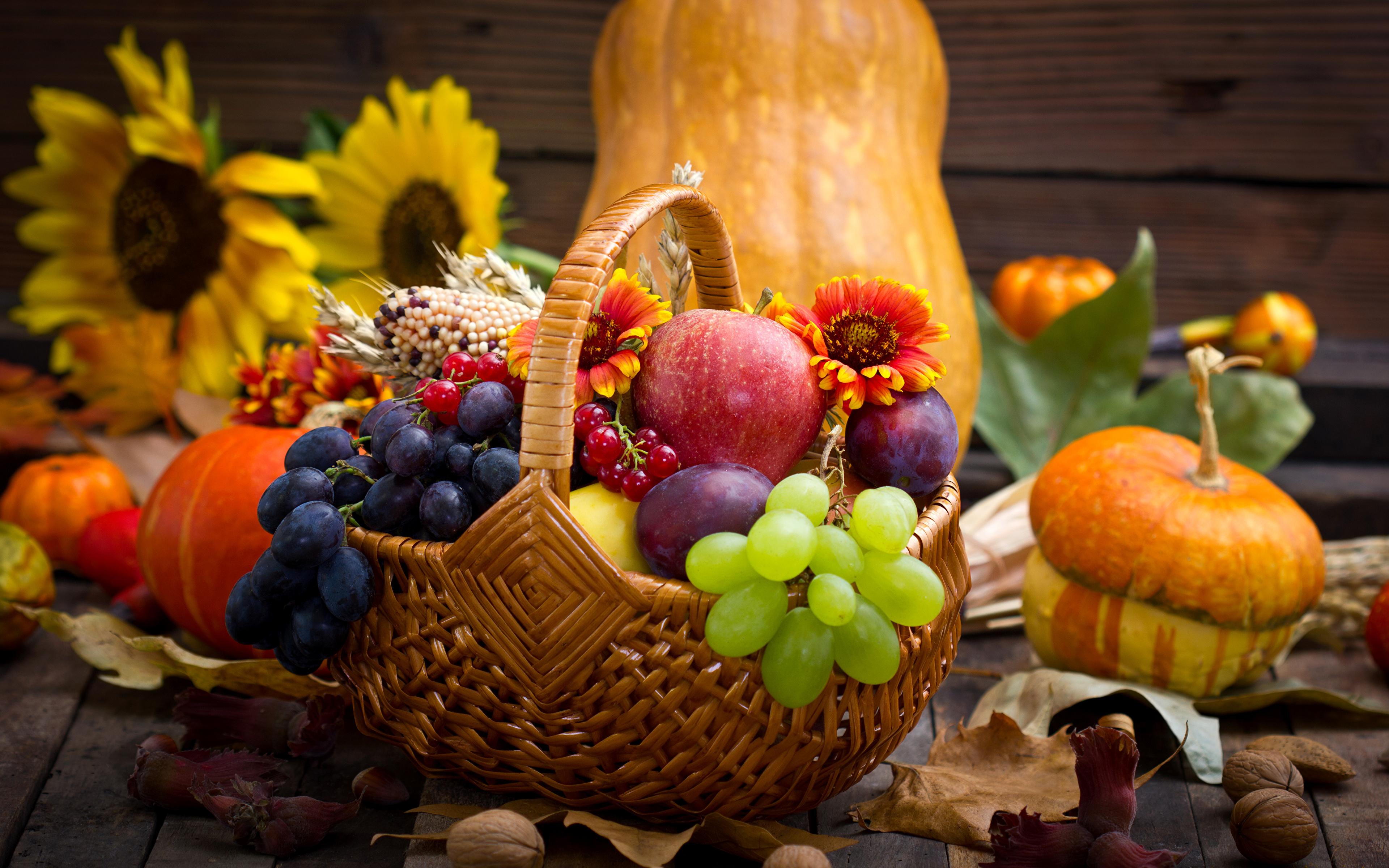 обои на рабочий стол овощи фрукты осень 15480