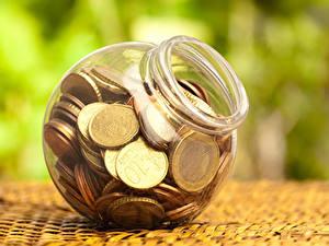Фотографии Деньги Монеты Евро Банка