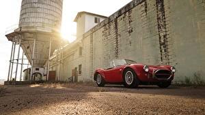 Фотография Shelby Super Cars Красные Кабриолет Родстер 1966 Cobra 427 Roadster MkIII AC авто