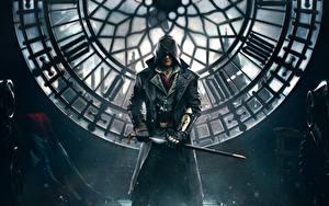 Обои для рабочего стола Assassin's Creed Мужчины Assassin's Creed Syndicate Капюшон Лондоне Jacob Frye компьютерная игра