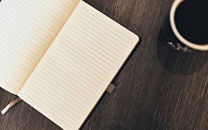 Картинки Кофе Напиток Крупным планом Книга Лист бумаги Страница Пища