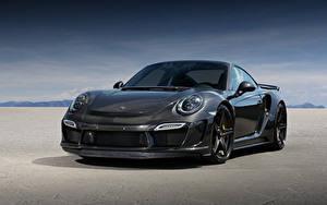 Картинка Порше Спереди 2015 TopCar 911 Turbo Stinger GTR Carbon Edition 991 машина