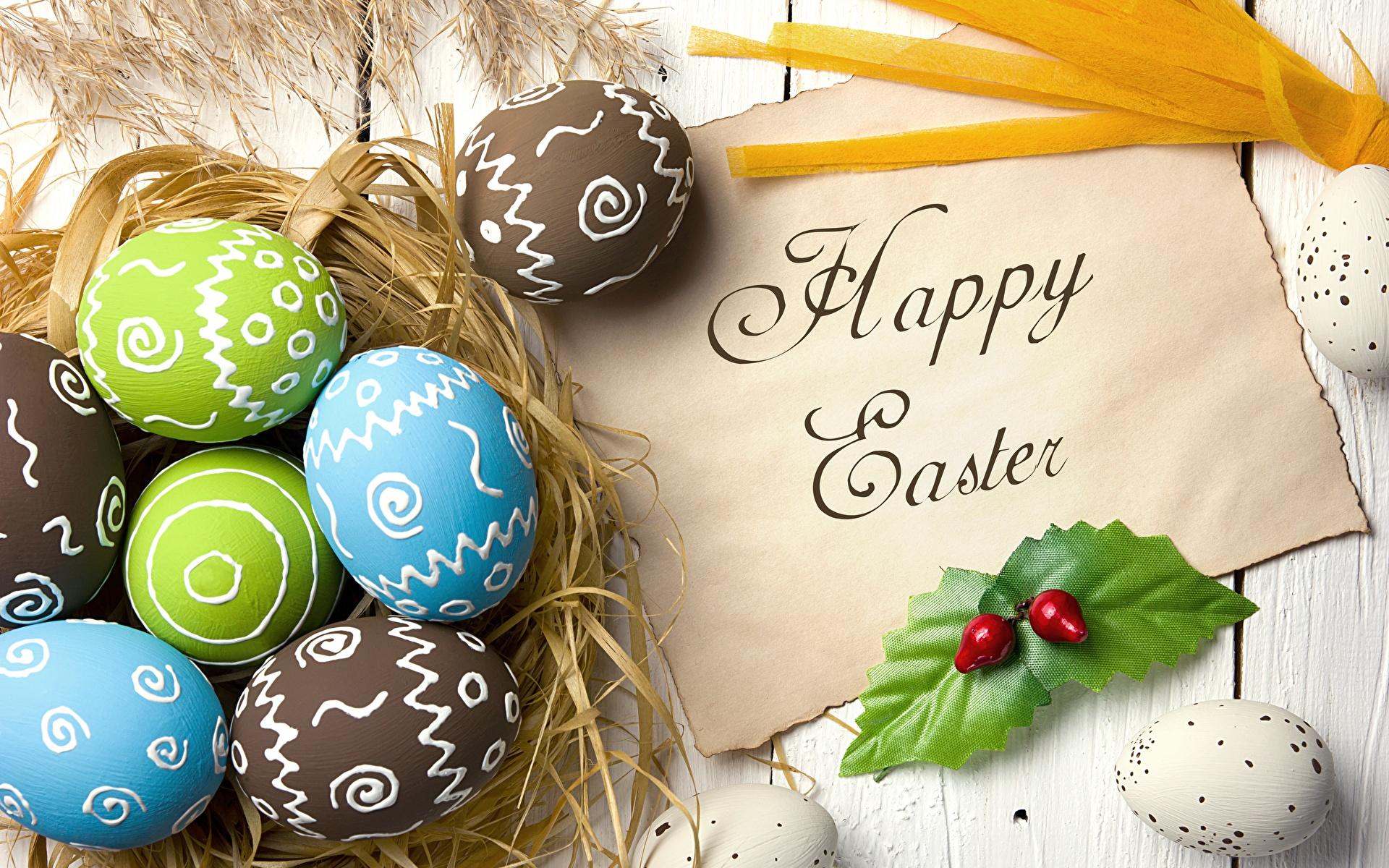 Фотография Пасха Английский яйцо текст 1920x1200 английская инглийские яиц Яйца яйцами слова Слово - Надпись