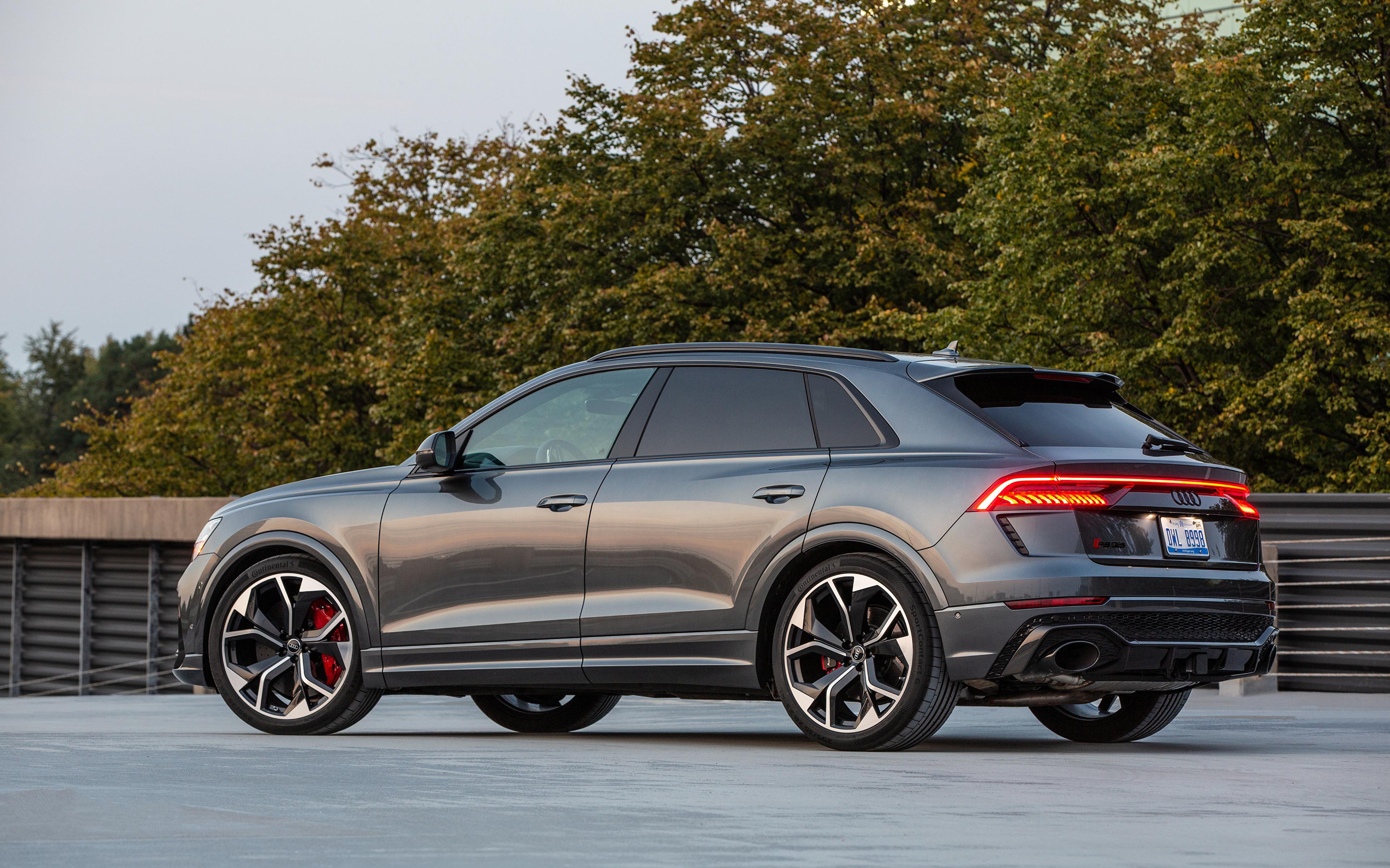 Фотография Audi RS Q8, North America, 2020 Серый Сбоку Металлик Автомобили 3840x2400 Ауди серая серые авто машины машина автомобиль