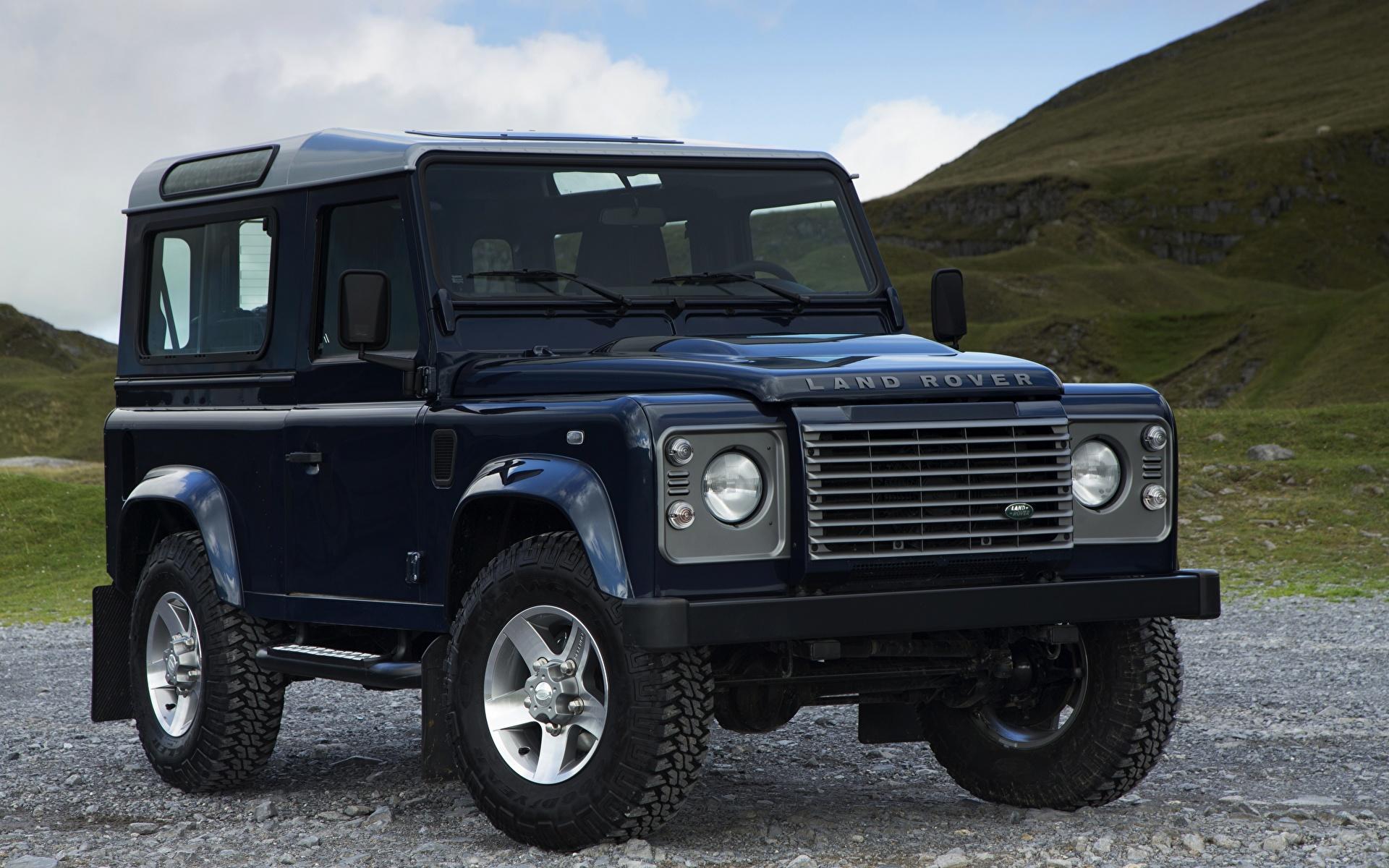 Фотография Range Rover SUV 2013, Defender 90 черная машины 1920x1200 Land Rover Внедорожник Черный черные черных авто машина Автомобили автомобиль