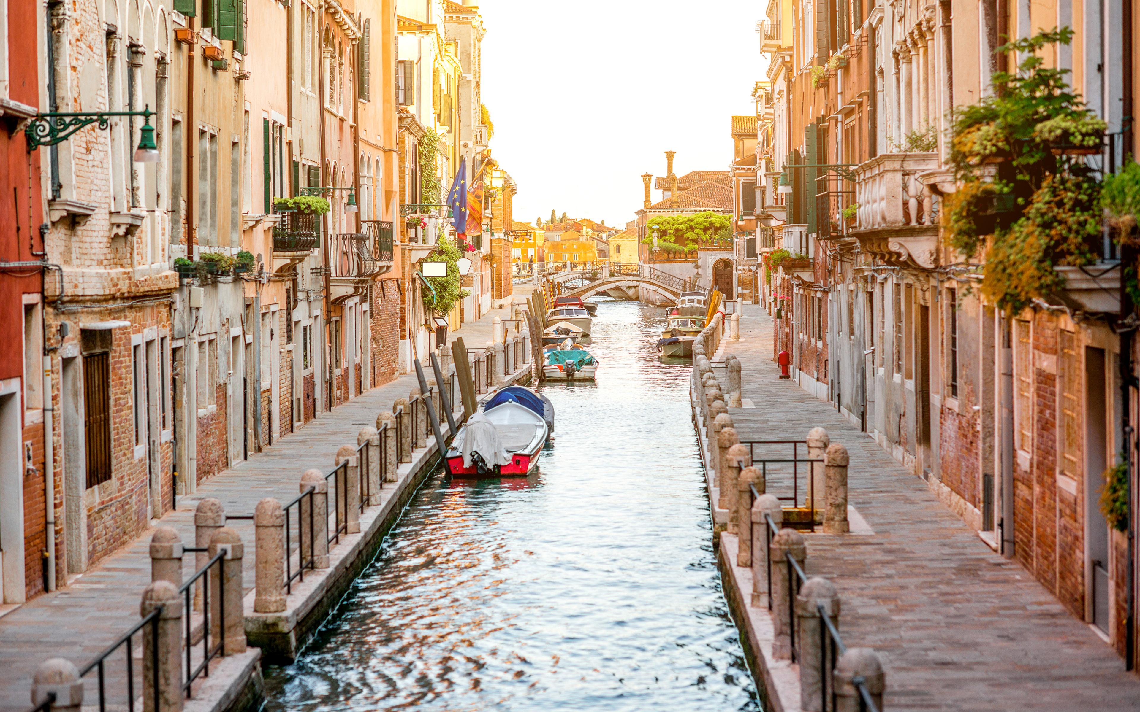 Обои канал, венеция, лодки, дома. Города foto 10