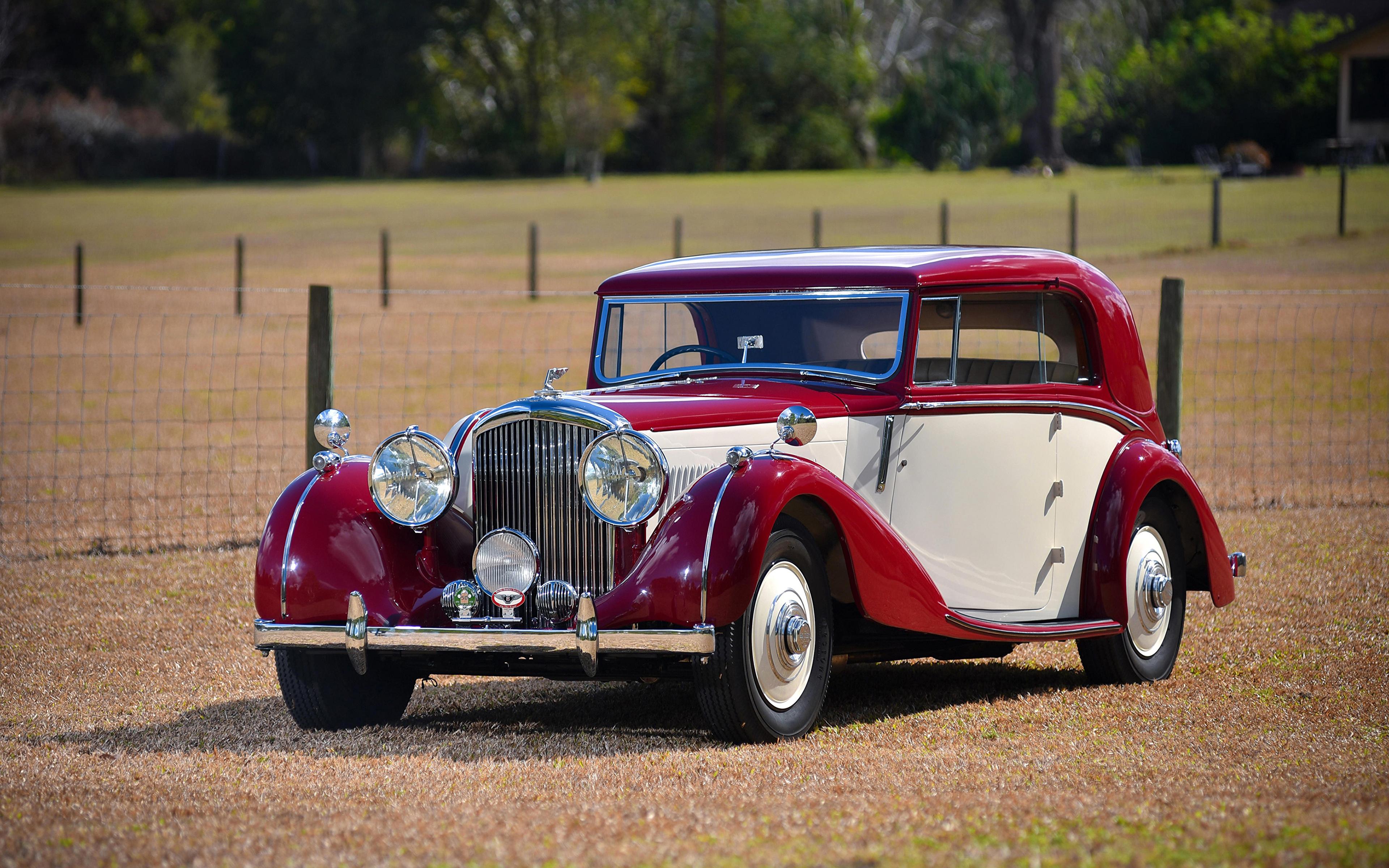 Картинка Бентли 1939 4 ¼ Litre Coupe by Park Ward винтаж Металлик Автомобили 3840x2400 Bentley Ретро старинные авто машины машина автомобиль