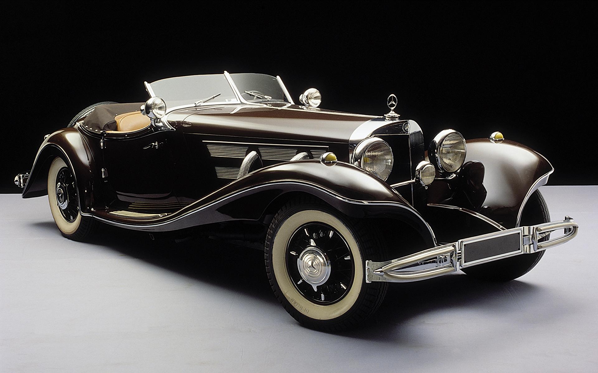 Фото Mercedes-Benz 1935-36 500K Roadster Родстер Кабриолет Ретро Автомобили 1920x1200 Мерседес бенц кабриолета винтаж старинные авто машина машины автомобиль