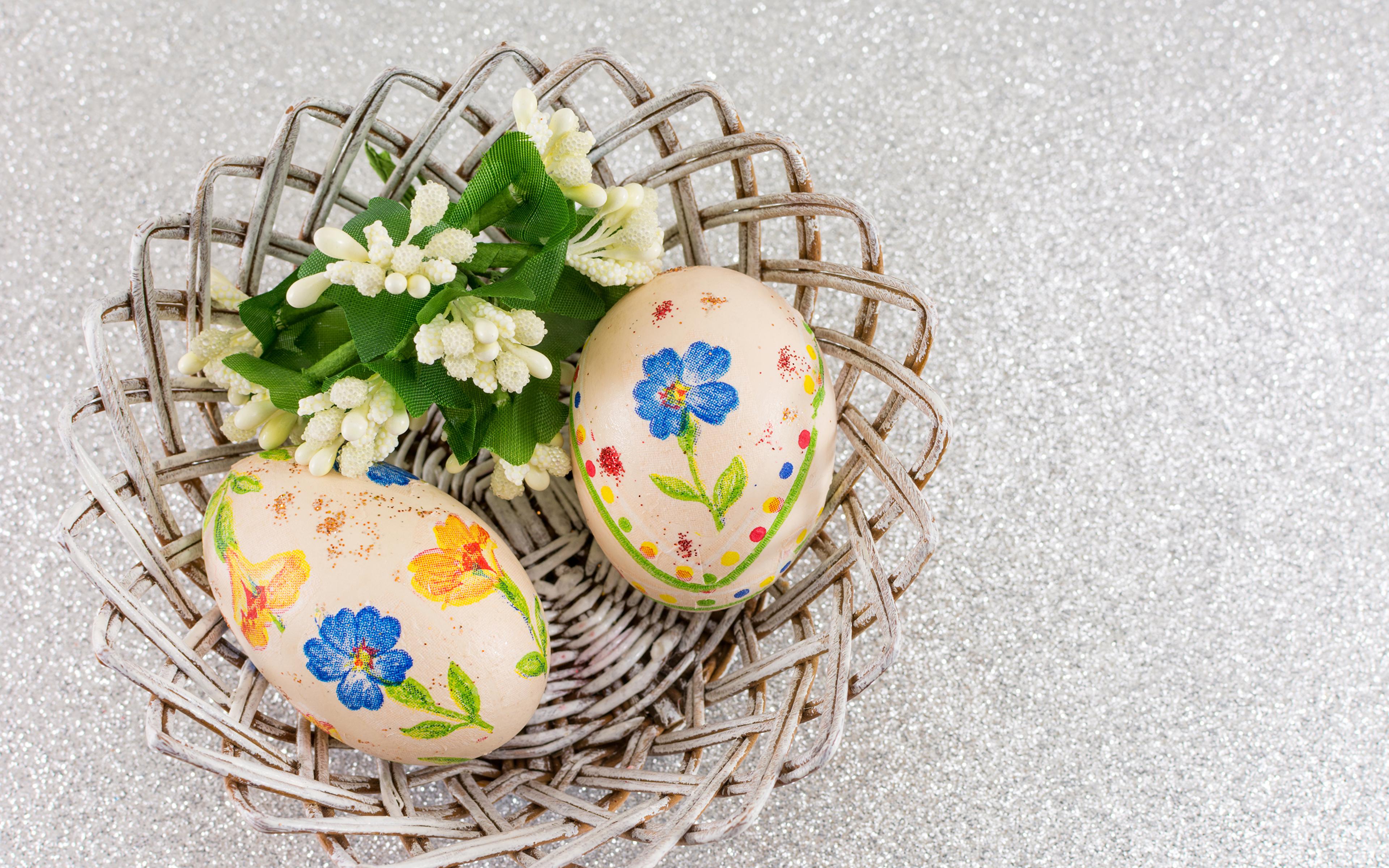 Фотографии Пасха яиц Двое Дизайн 3840x2400 яйцо Яйца яйцами 2 два две вдвоем дизайна