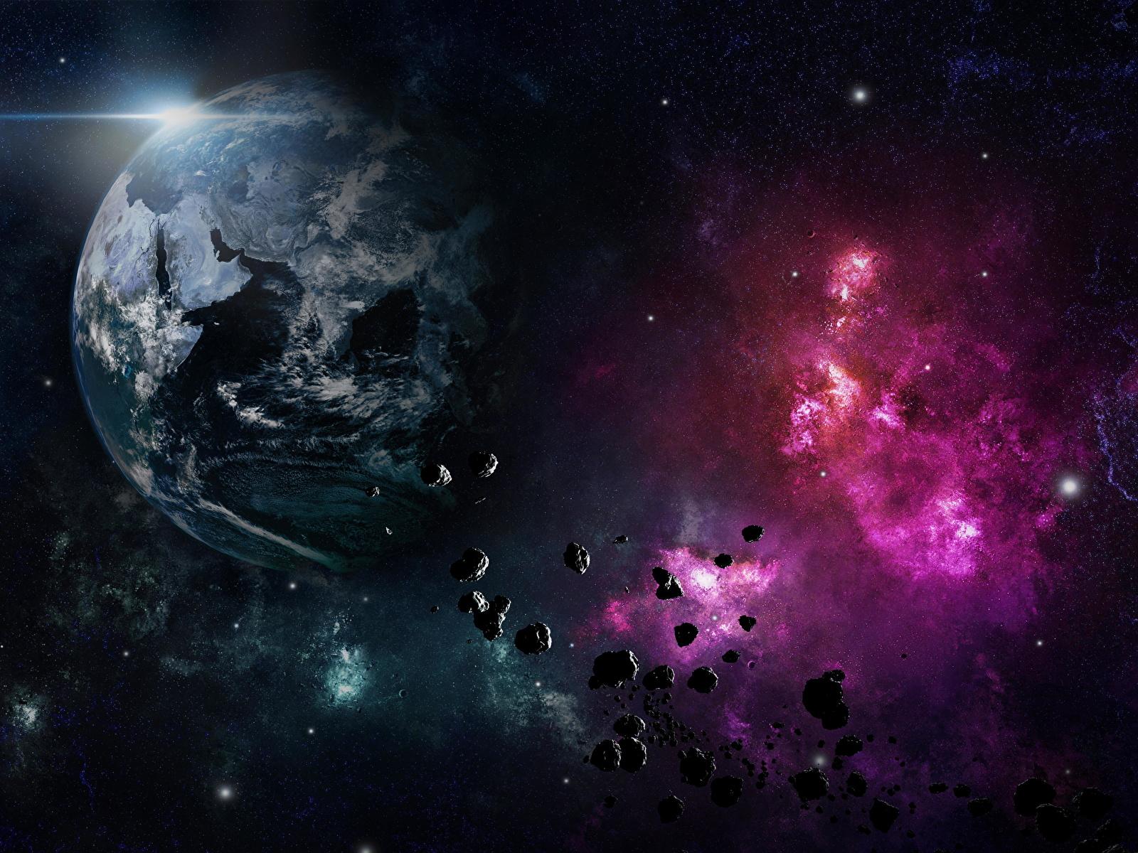 Обои земля, астероиды. Космос foto 10
