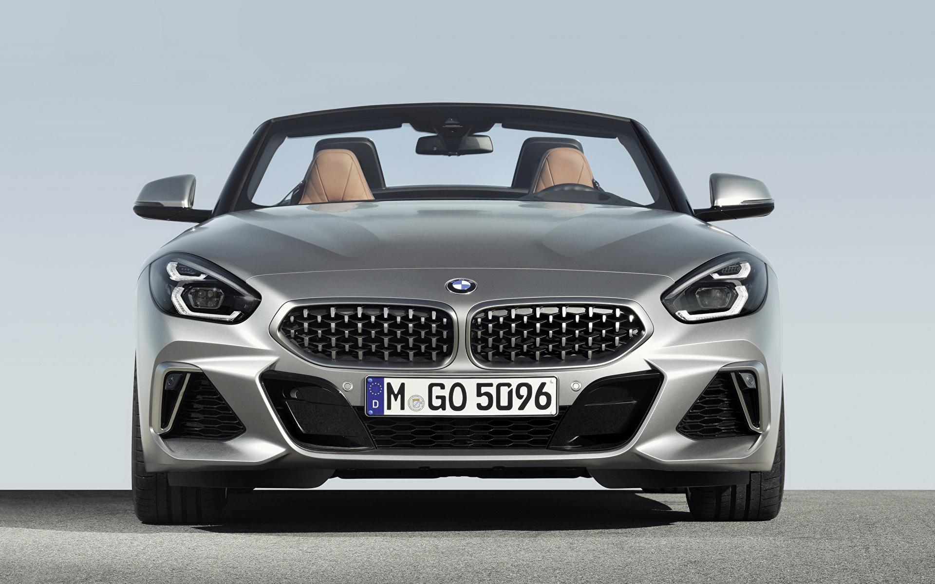 Обои BMW Z4 M40i Z4 2019 G29 Родстер Серебристый Машины Спереди 1920x1200 БМВ Авто Автомобили