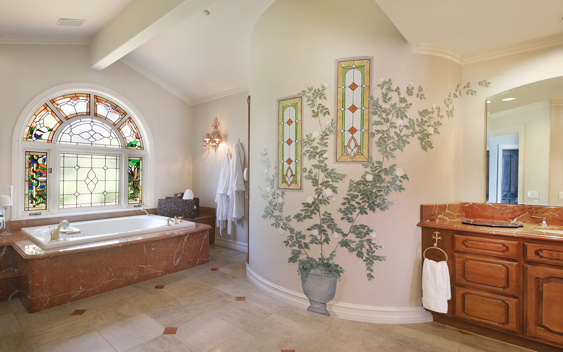 Обои для рабочего стола Ванная Интерьер дизайна 1920x1200 Дизайн