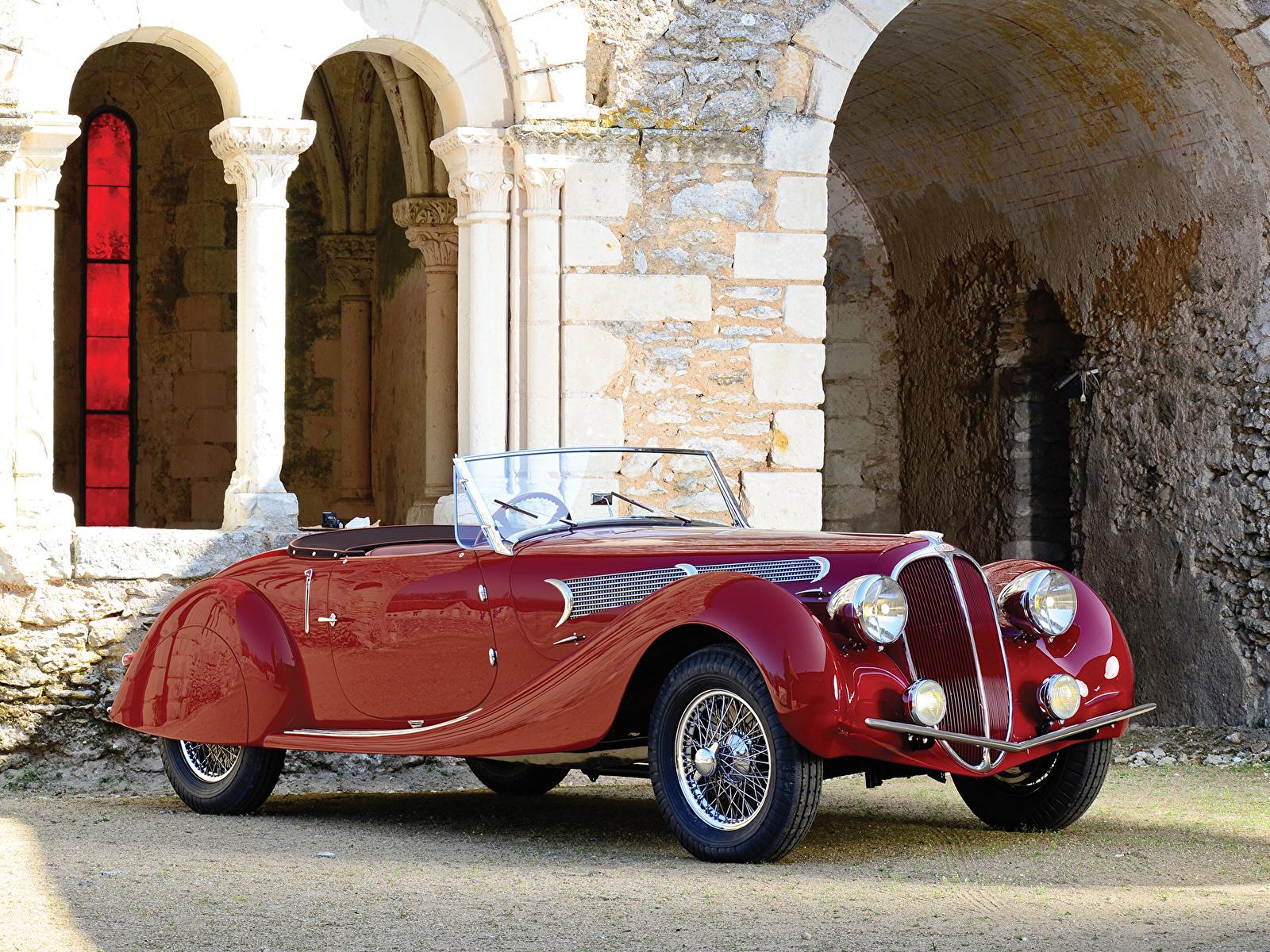 Картинка Delahaye 135 MS Grand Sport Roadster 1939 Родстер Ретро Автомобили 1600x1200 винтаж старинные авто машина машины автомобиль