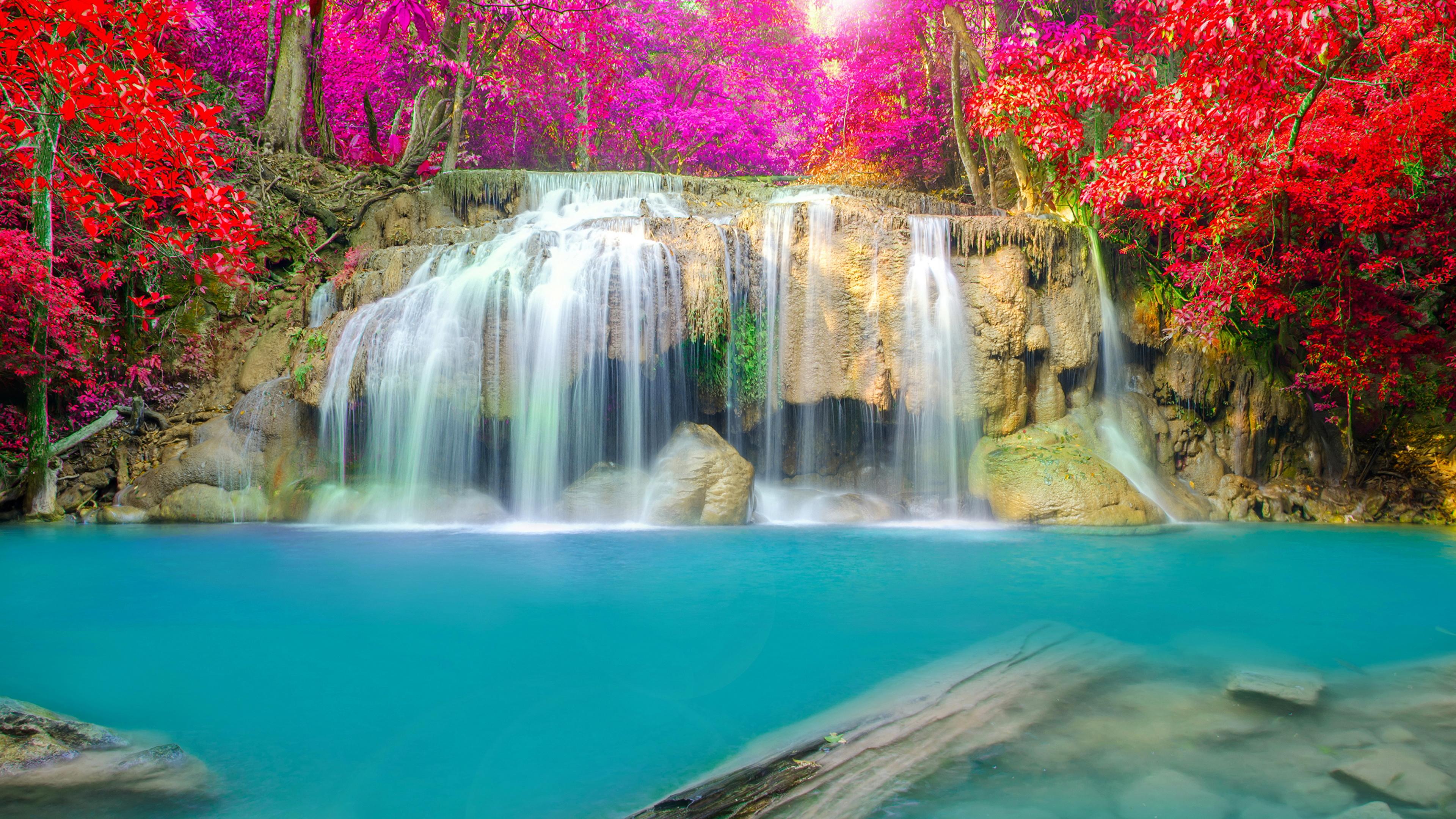 обои на рабочий стол осень золотая водопады 16139