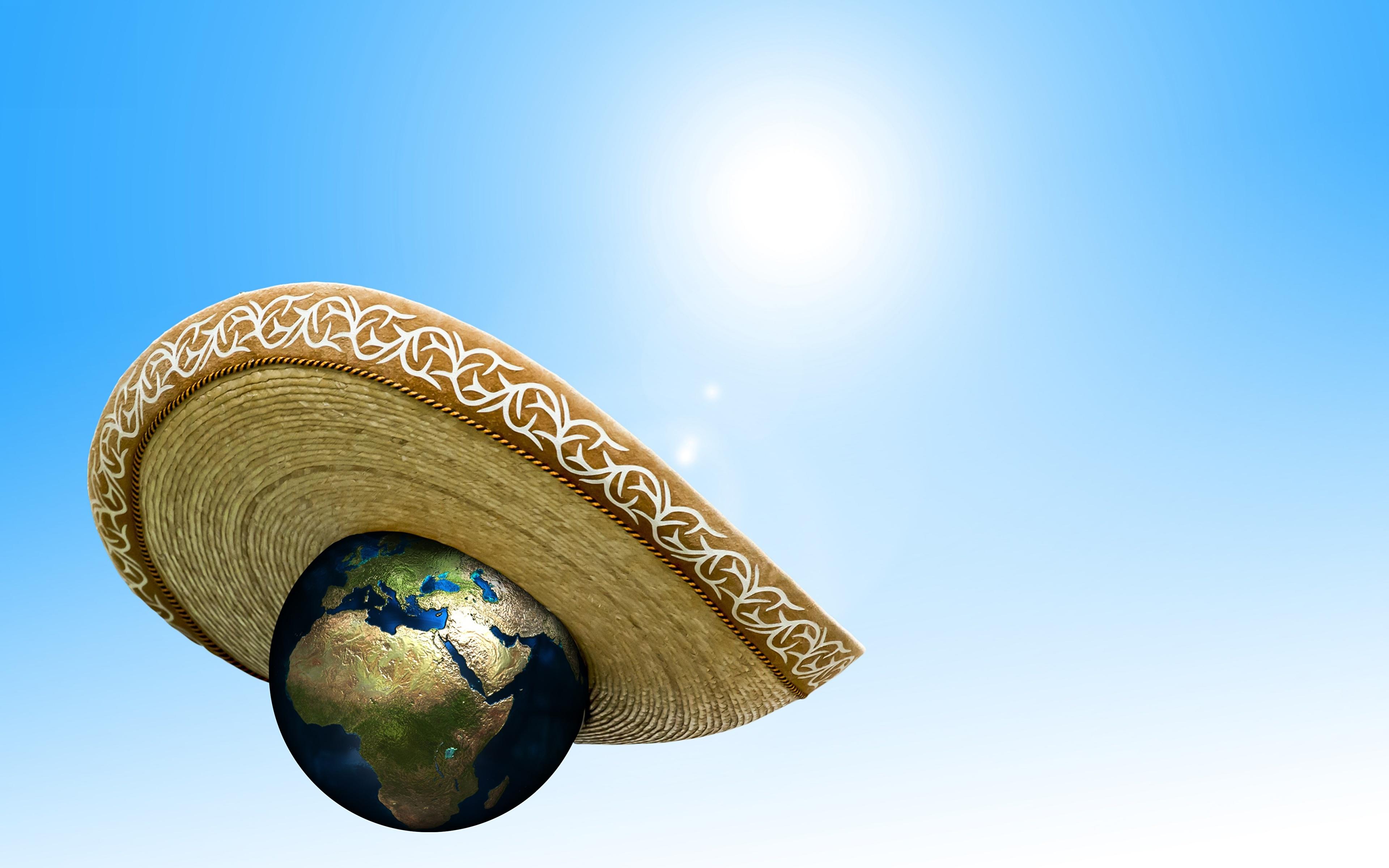 Фотография Земля global warming Шляпа Космос 3840x2400 земли шляпы шляпе