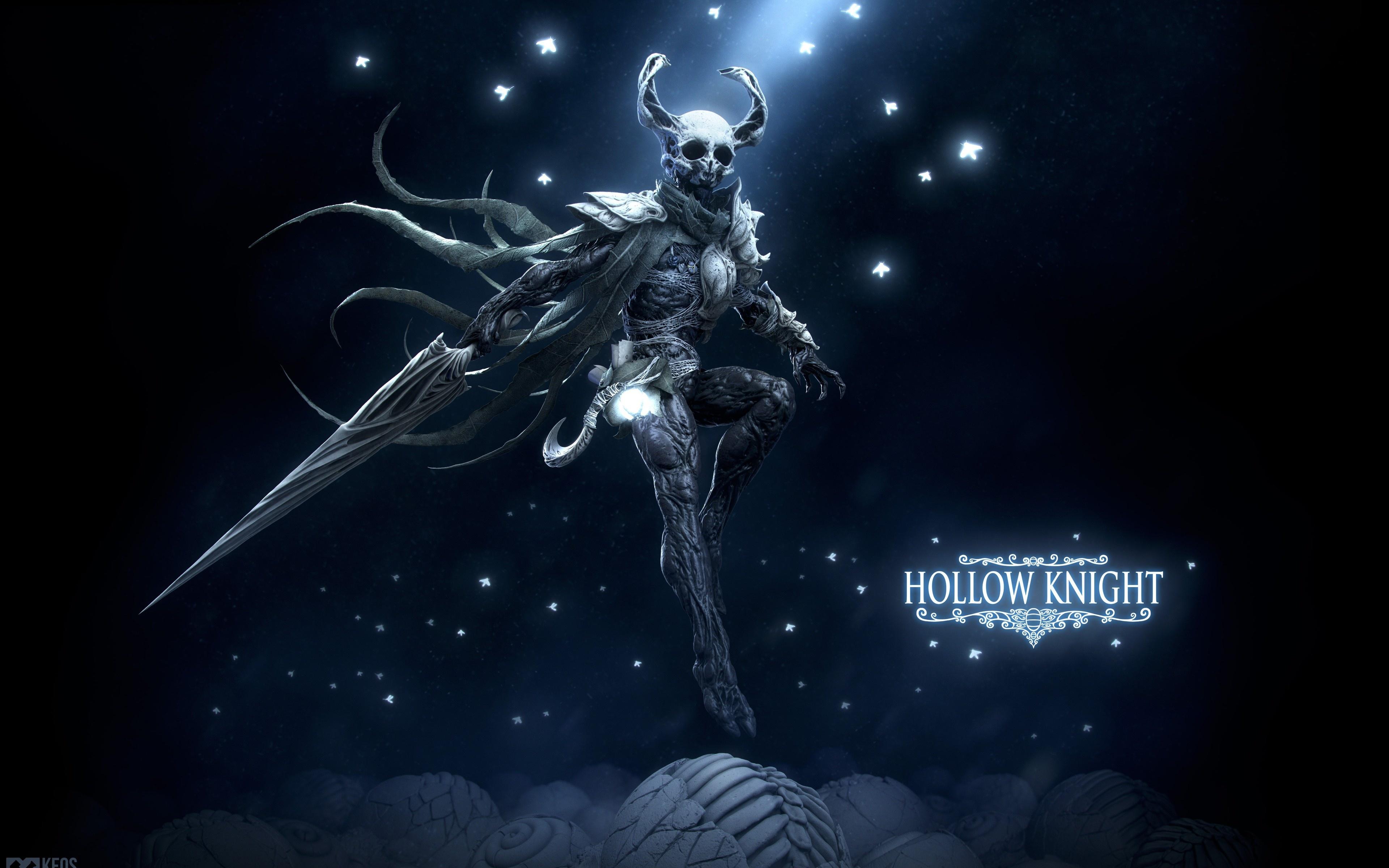 Обои для рабочего стола меча Воители Рога Hollow Knight, Keos Masons Игры 3840x2400 меч Мечи с мечом воин воины с рогами компьютерная игра