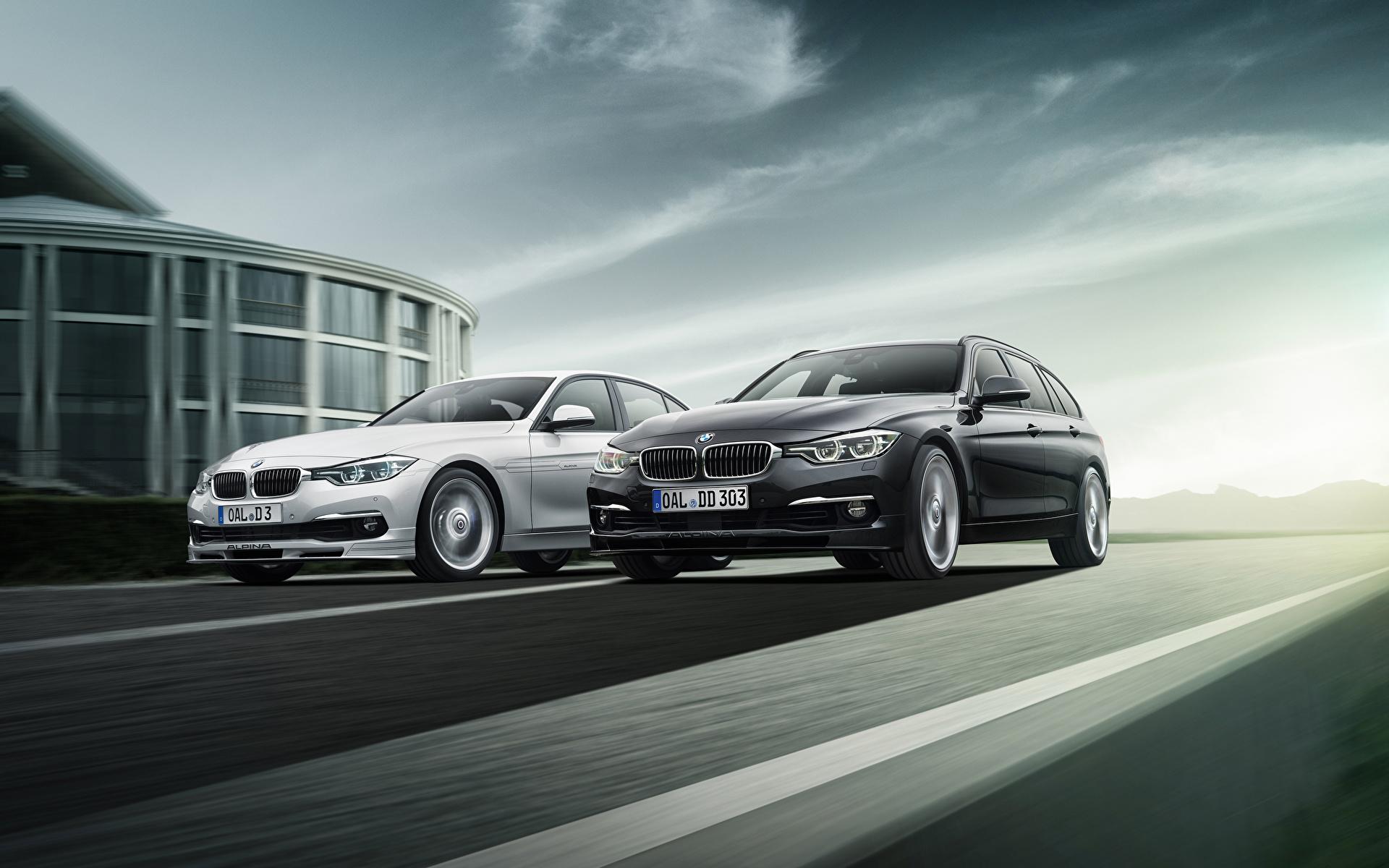 Фотография BMW F31 Alpina 2013 F30 3 Series вдвоем автомобиль 1920x1200 БМВ 2 два две Двое авто машины машина Автомобили