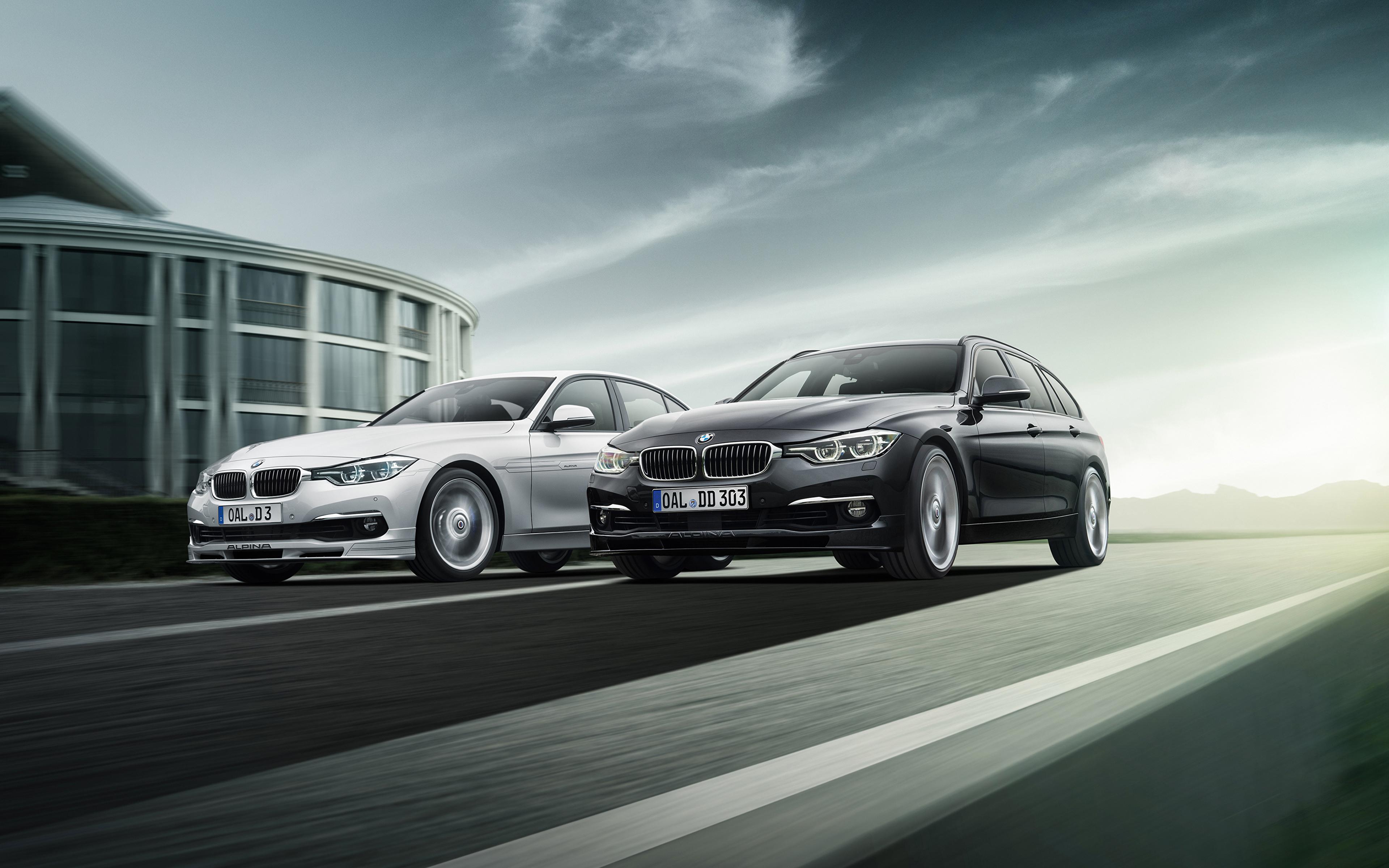 Фотография BMW F31 Alpina 2013 F30 3 Series вдвоем автомобиль 3840x2400 БМВ 2 два две Двое авто машины машина Автомобили